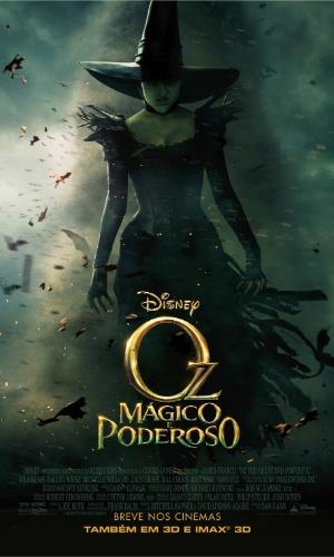 """Cartaz oficial do filme """"Oz: Mágico e Poderoso"""", de Sam Raimi - pôster em português"""