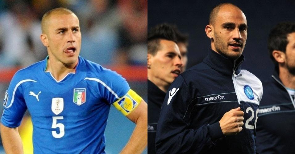 Irmãos Paolo e Fabio Cannavaro têm em comum a profissão de jogador de futebol e ambos são zagueiros