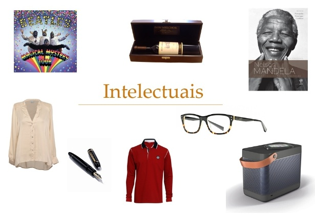 Montagem de presentes para intelectuais