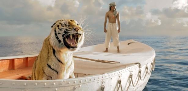 """O tigre bengala Richard Parker em cena de """"As Aventuras de Pi"""""""