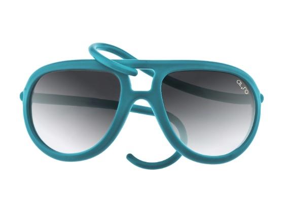 Óculos dobrável disponível em 27 cores. R$ 540, da Alero Design (11-4323-8733). Preços consultados em dezembro de 2012 e sujeitos a alterações