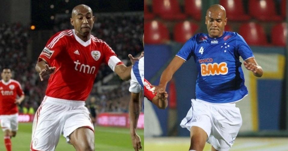 Os jogadores Luisão, do Benfica, e Alex Silva, hoje no Cruzeiro, são irmãos