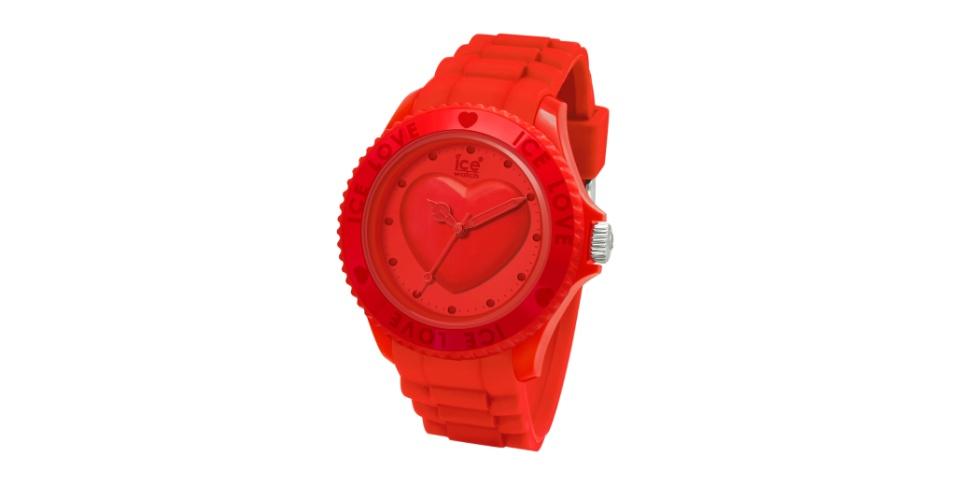 Relógio com Crystais Swarovski Ice Love Red