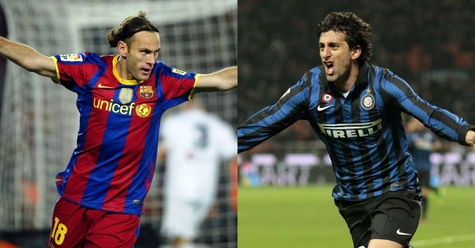 Selo dos irmãos Gabriel e Diego Milito. Gabriel Milito encerrou a carreira no Independiente (ARG). Diego é atacante da Inter de Milão