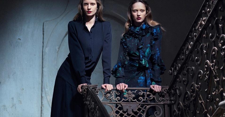 Karmen Pedaru e Nadja Bender na campanha Verão 2013 da Gucci