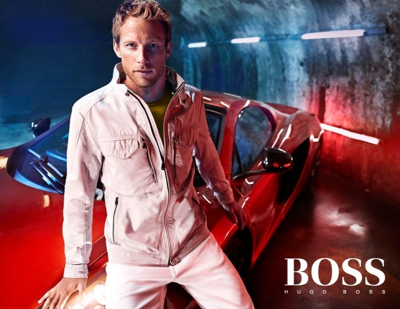 O piloto inglês Jenson Button posa para a Hugo Boss