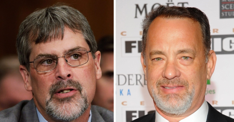 26.dez.2012 -  O ator Tom Hanks (dir.) vai interprertar o Capitão Richard Phillips na cinebiografia 'Captain Phillips', com direção de Paul Greengrass