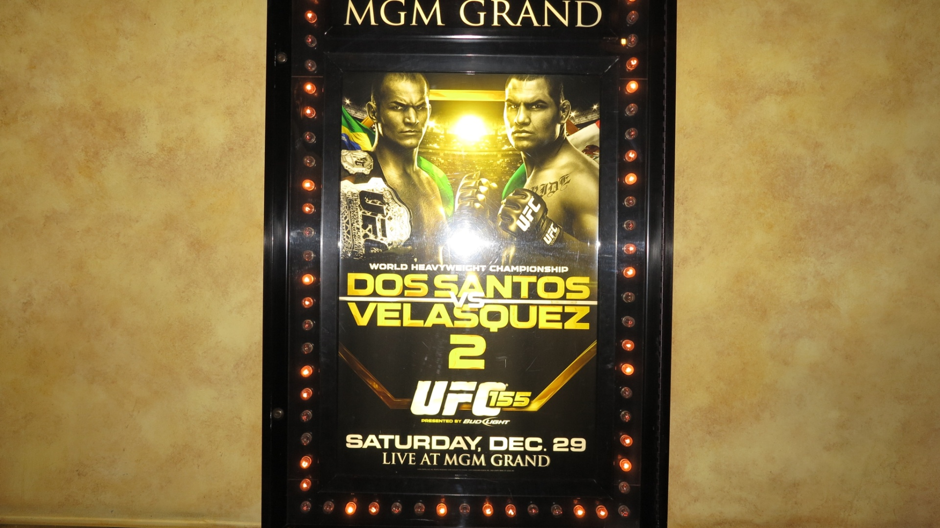 Cartaz da luta entre o brasileiro Cigano e o americano Cain Velsquez