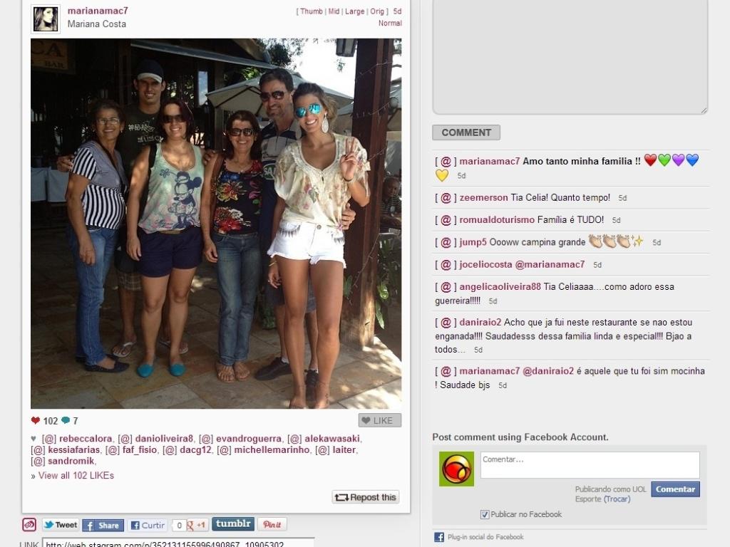A ex-jogadora de vôlei Mari Paraíba aproveitou suas férias para curtir a família e registrou vários desses momentos na rede social