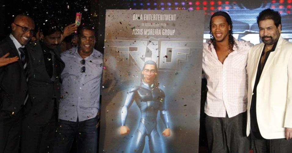 Ronaldinho participa de lançamento do projeto de animação