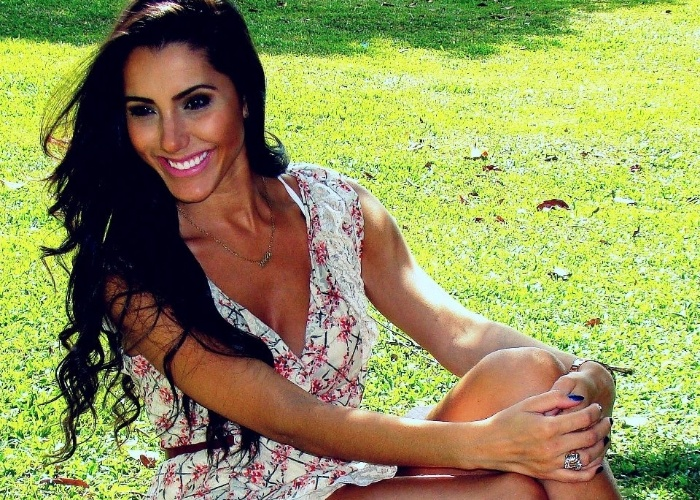 O modelo Kelly Baron já participou de concursos de beleza, como o Miss Brasil e Musa do Brasileirão