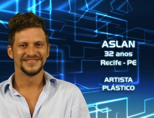 """Foto de divulgação do artista plástico Aslan, participante do """"BBB13"""""""