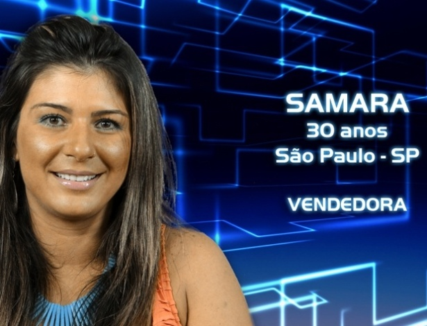 """Foto de divulgação de Samara, participante da casa de vidro do """"BBB13"""""""