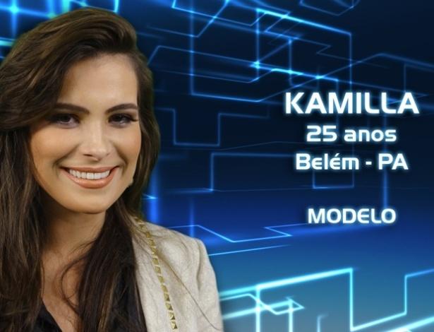 """Foto de divulgação de Kamilla Salgado, participante da casa de vidro do """"BBB13"""" selecionada para o programa"""