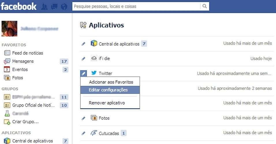 Tutorial para remoção de aplicativos sociais
