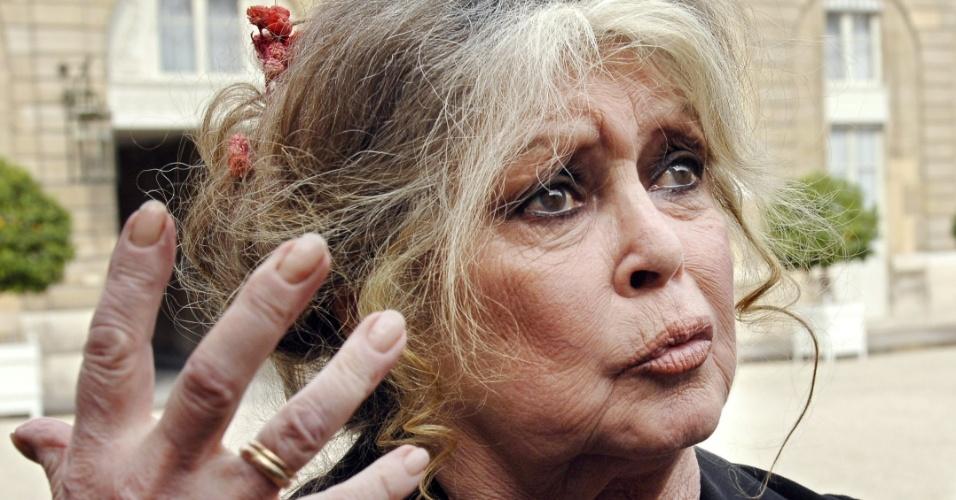 4.jan.2013 - A atriz francesa Brigitte Bardot ameaça deixar seu país e pedir a nacionalidade russa caso o governo aplique eutanásia a dois elefantes em Lyon, no sudeste da França