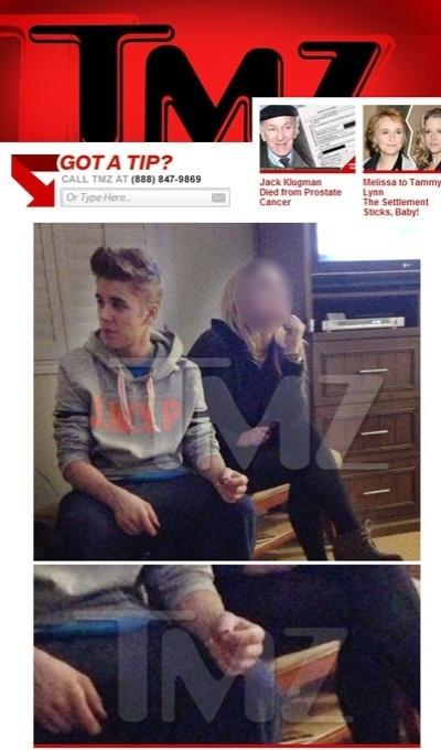 5.jan. 2013 - TMZ mostra imagem de Justin Bieber com cigarro suspeito nas mãos