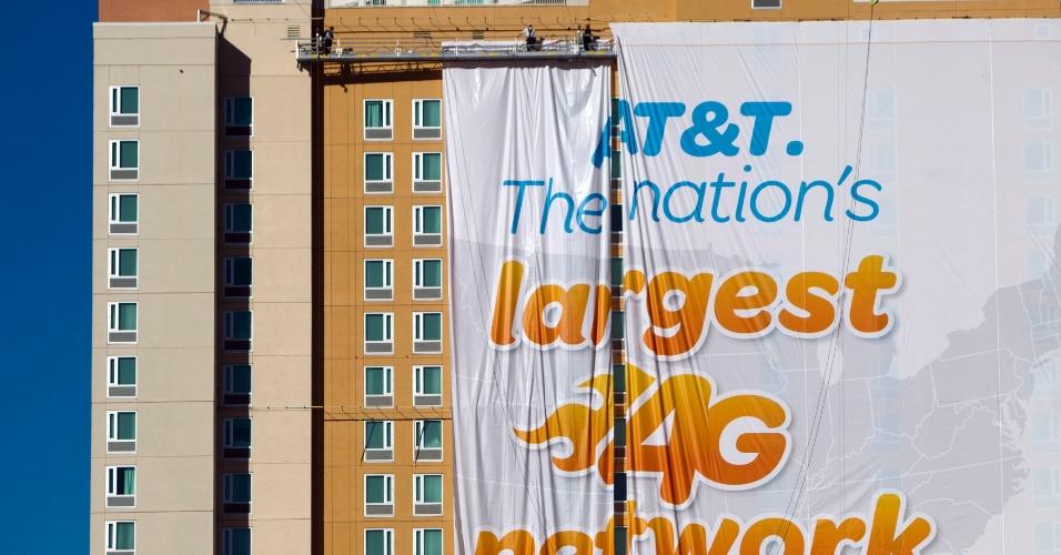 4.jan.2013 - Cidade de Las Vegas se prepara para a feira de tecnologia CES 2013, realizada de 8 a 11 de janeiro