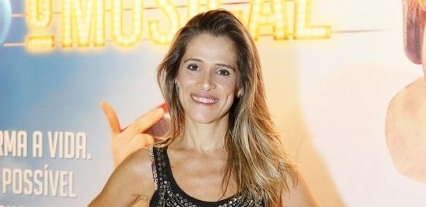 8.jan.2013 - A atriz Ingrid Guimarães na sessão especial no Rio de Janeiro de