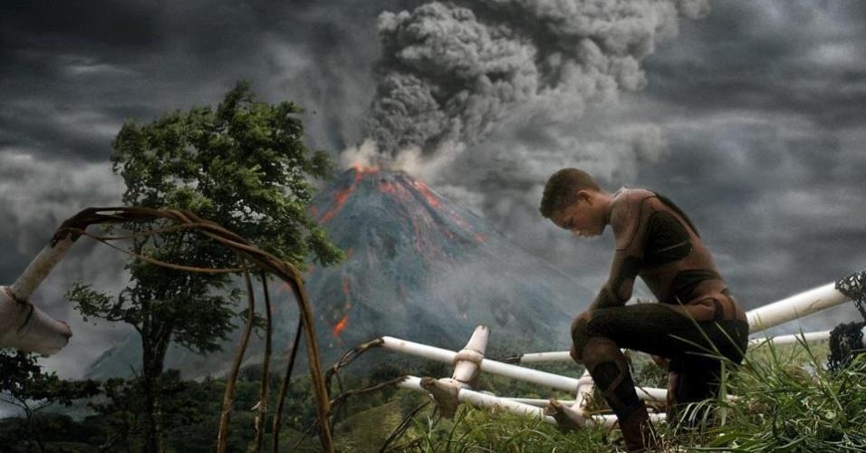 """10.jan.2013 - Cena do filme """"After Earth"""", nova produção assinada por M. Night Shyamalan, diretor de """"O Sexto Sentido"""" e """"A Vila"""""""