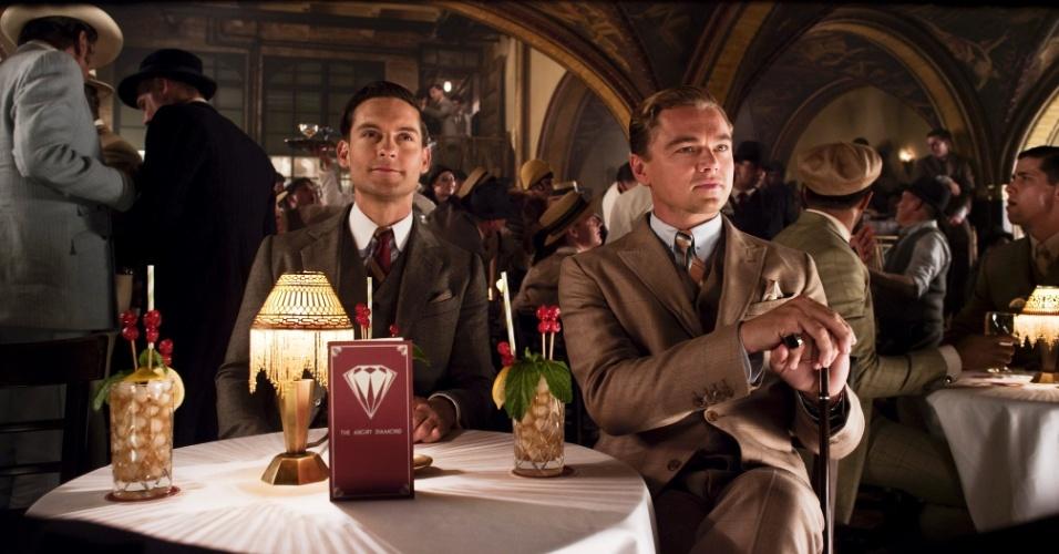 """10.jan.2013 - Cena do filme """"O Grande Gatsby"""", nova versão cinematográfica para o livro de F. Scott Fitzgerald, estrelada por Leonardo DiCaprio e Tobey Maguire"""