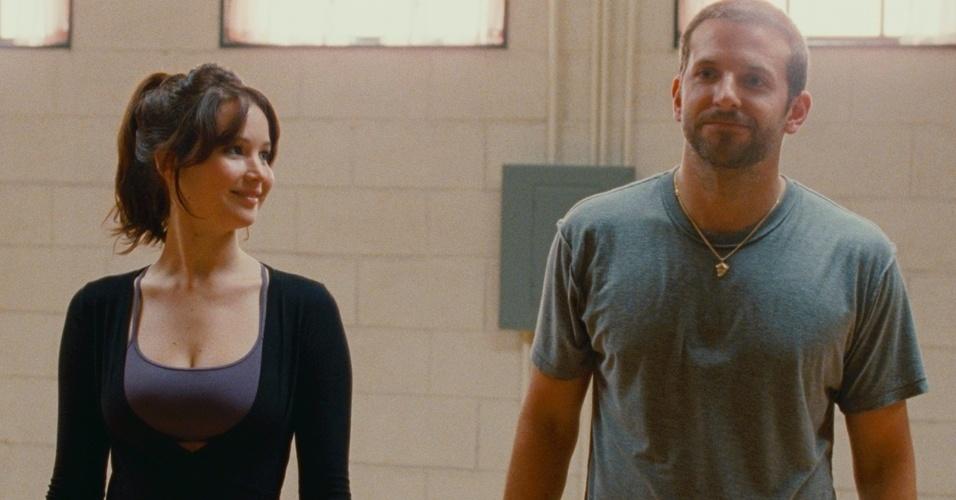 """10.jan.2013 - Cena do filme """"O Lado Bom da Vida"""", estrelado por Bradley Cooper e Jennifer Lawrence"""