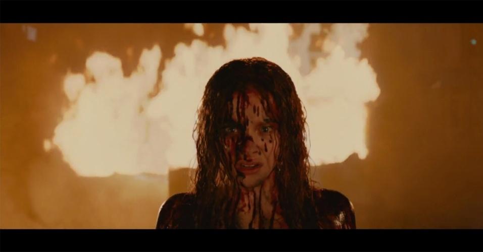 """10.jan.2013 - Cena do remake """"Carrie, A Estranha"""", estrelado pela jovem Chloë Grace Moretz e dirigido por Kimberly Peirce"""