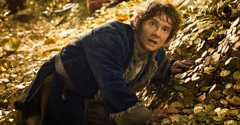 """10.jan.2013 - Cena do segundo filme da trilogia """"The Hobbit"""", dirigido por Peter Jackson com base na obra homônima de J.R.R. Tolkien"""