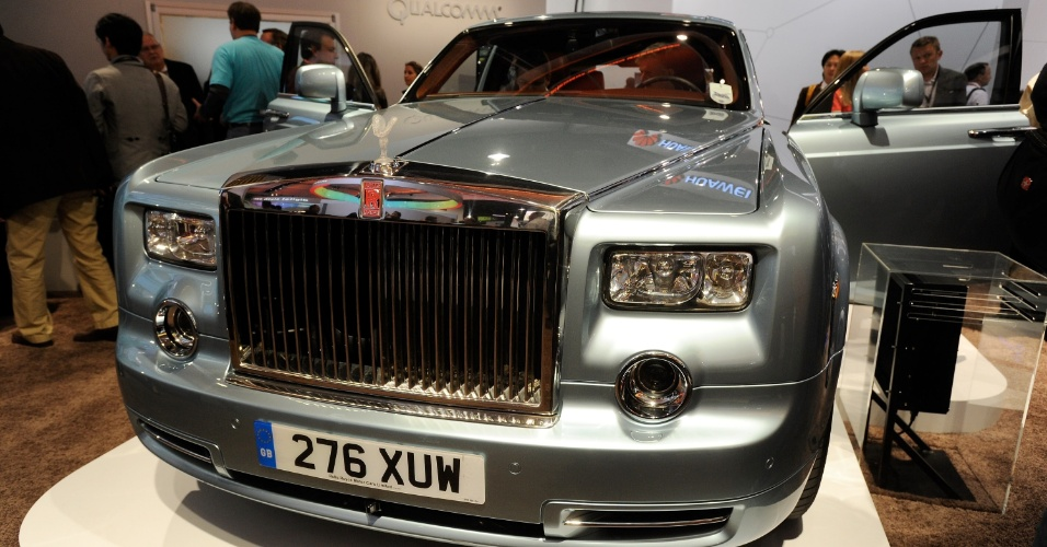 10.jan.2013 - Rolls Royce exibido na CES pela empresa Qualcomm usa eletricidade no lugar dos combustíveis tradicionais