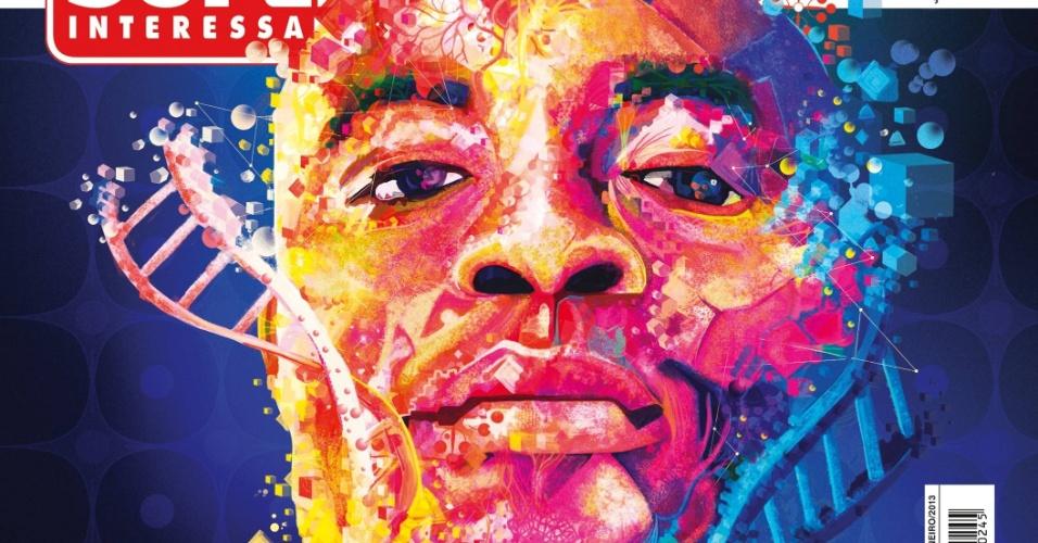 Capa da revista Super Interessante com Anderson Silva