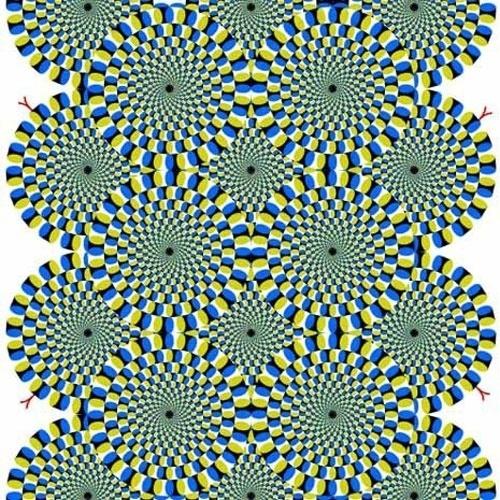 """Ilusão de ótica: """"cobras rotativas"""" por Akiyoshi Kitaoka"""