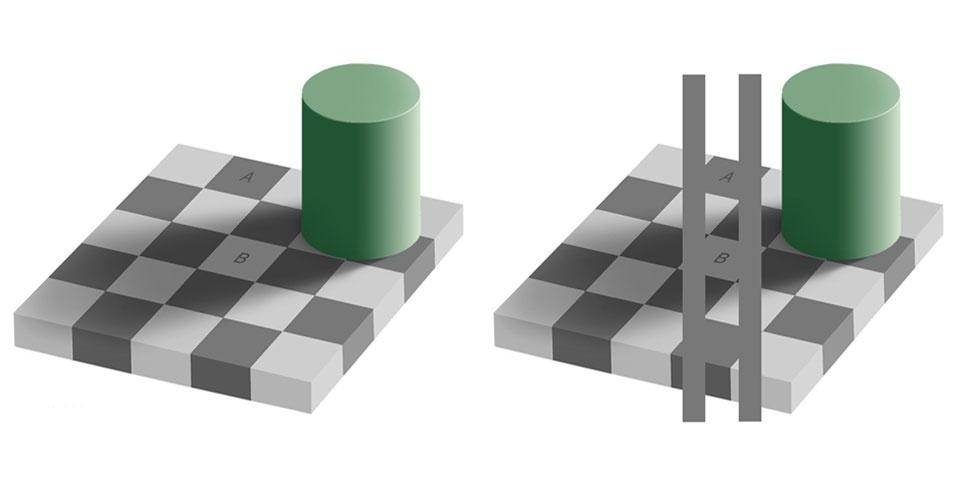 Ilusão de ótica: cores