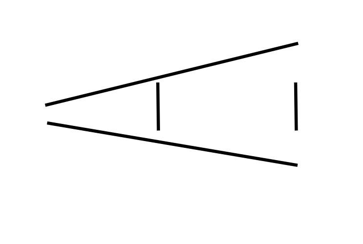 Ilusão de ótica: tamanho/proporção