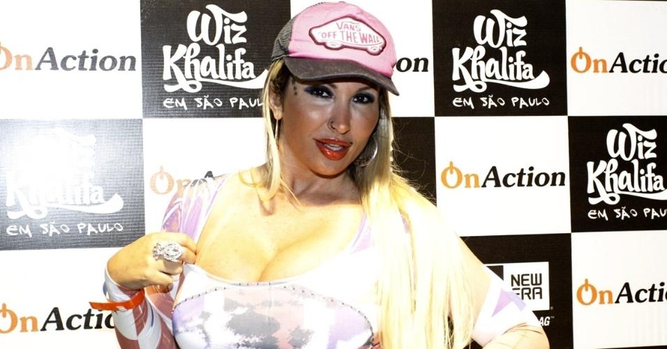 11.jan.2013 - Sabrina Boing Boing no show do rapper americano Wiz Khalifa no Memorial da América Latina, em São Paulo