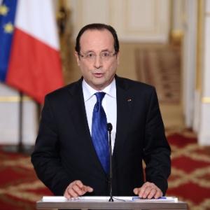 O presidente da França, François Hollande