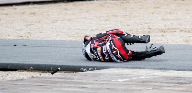 Henrique Balestrini sofreu forte queda durante o aquecimento a Copa Brasil de Motocross Freestyle