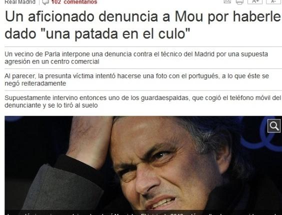 Mourinho é acusado de chutar torcedor