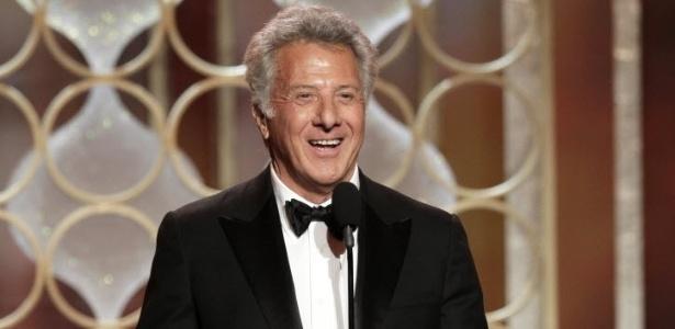 13.jan.2013 - Dustin Hoffman apresentando a 70ª cerimônia de entrega do Globo de Ouro, em Los Angeles