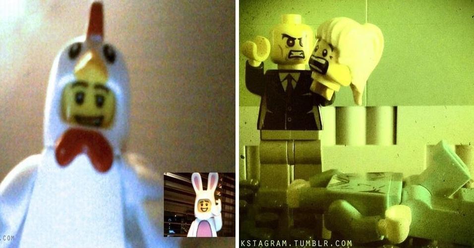 """O Tumblr """"Brickstagram"""" usa bonecos Lego para criar situações, e então, registra as cenas com o Instagram - sempre aplicando filtros, claro"""
