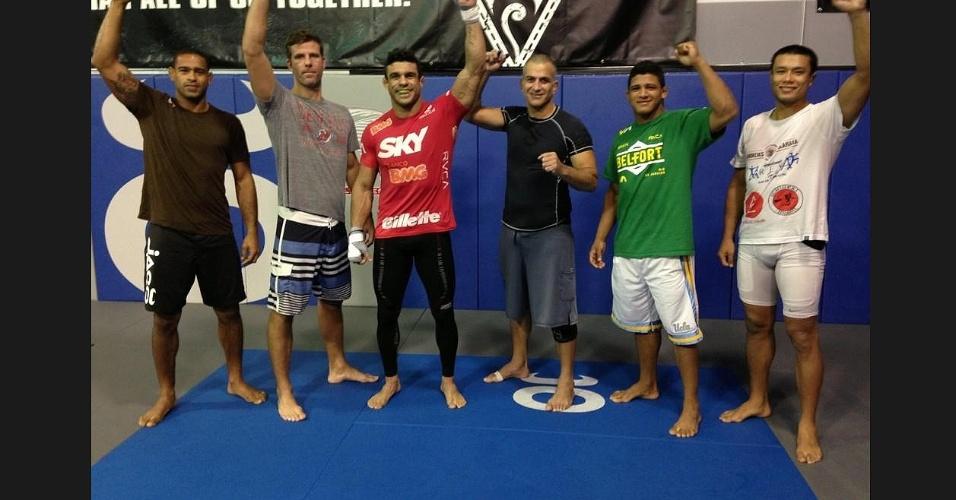 14.jan.2013 - Vitor Belfort faz último treino nos EUA antes de viajar para o UFC São Paulo