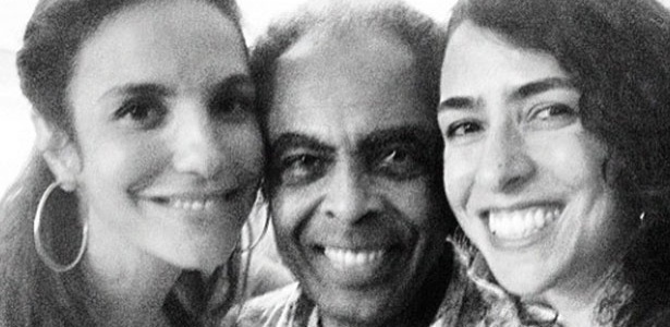 15.jan.2013 - Ivete Sangalo posta foto no Instagram junto de Gilberto Gil e Marisa Monte. 
