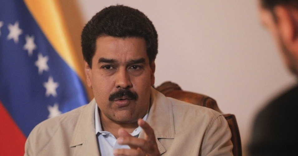 17.jan.2013 - Nicolás Maduro, vice-presidente da Venezuela, durante entrevista para a agência Efe, em Caracas (Venezuela)