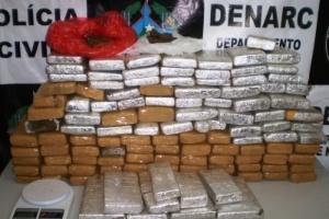 17.jan.2013-  Duas pessoas foram presas e 73,5kg de maconha apreendidos em Rondônia, nesta quarta-feira (16). A polícia seguiu os suspeitos e, após parar o veículo em que eles estavam, foi até a casa de um deles onde mais drogas foram encontradas