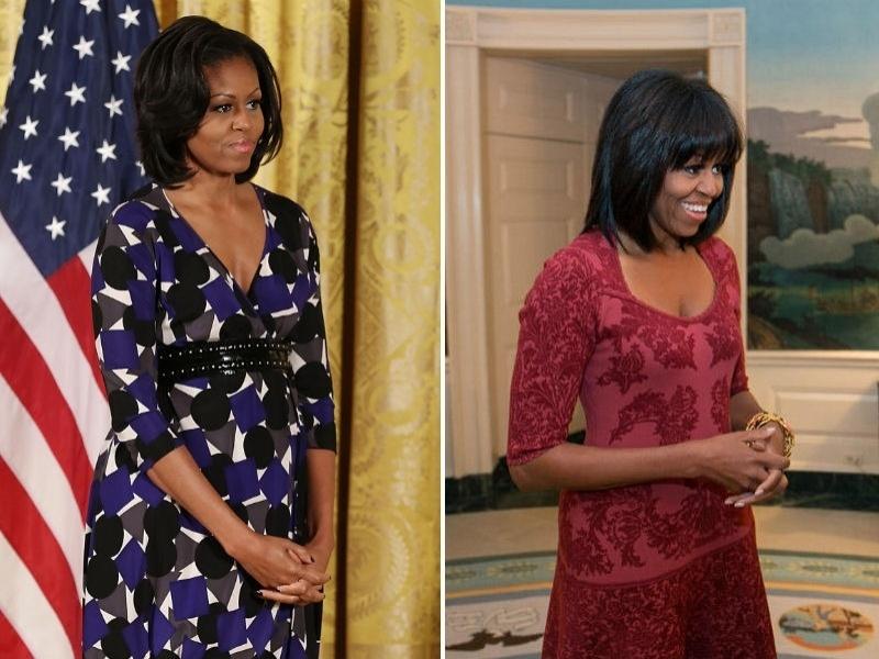 Michelle Obama com franja