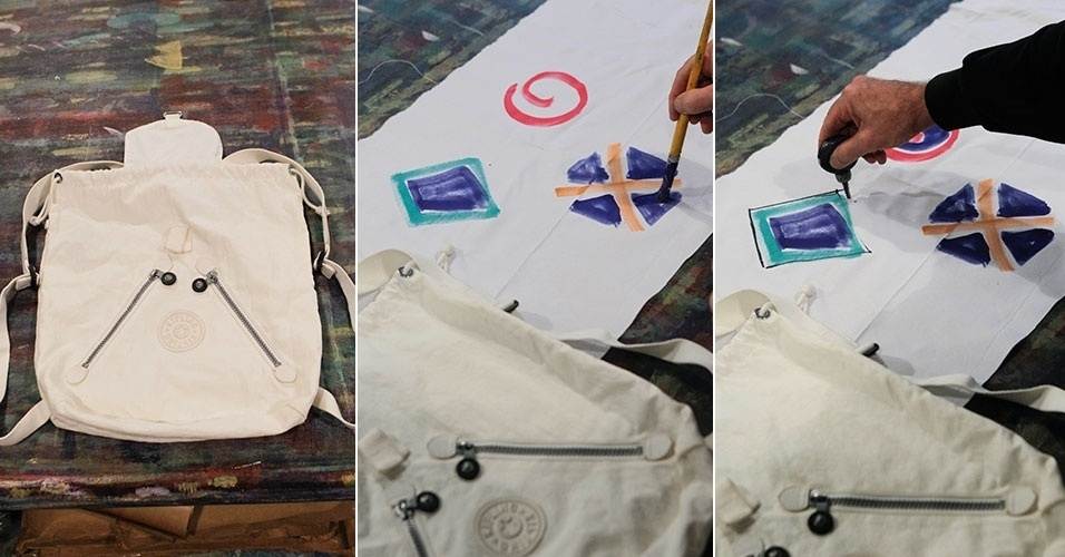 mochila, crianca, pintura