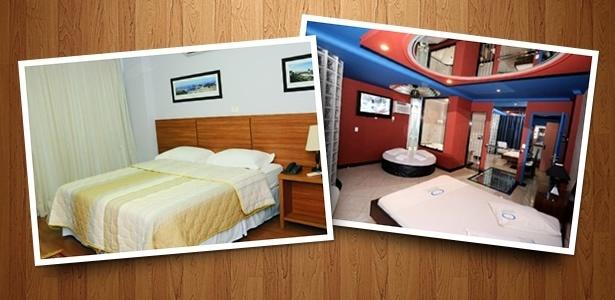 Quartos do Hotel Gallant antes e depois da reforma: do motel (dir.) ao hotel (esq.)