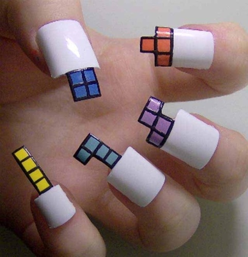 Unhas ganham decoração nerd com Tetris, Pac Man, Angry Birds e até