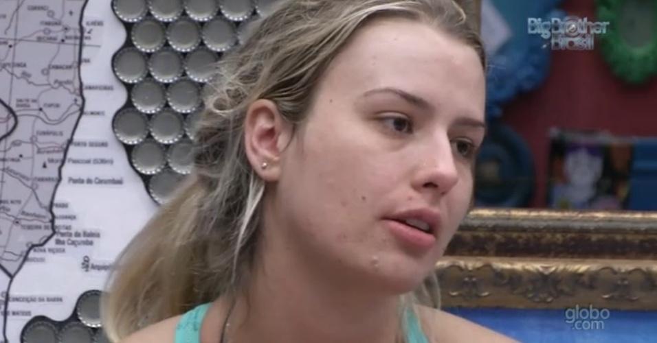 19.jan.2013 - Fernanda diz a André que quer ser apenas amiga do capixaba