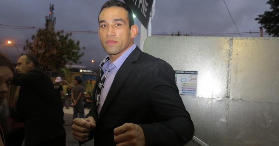 19.jan.2013 - Lutador brasileiro Fabricio Werdum comparece ao ginásio do Ibirapuera para prestigiar o UFC São Paulo