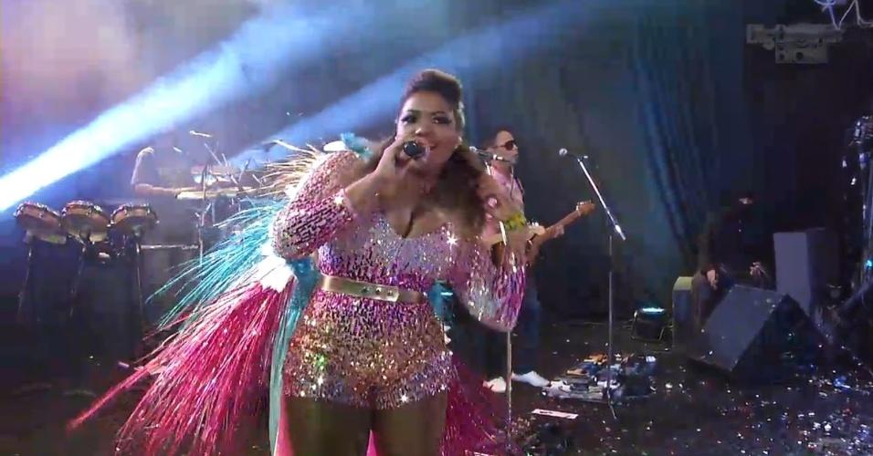 """19.jan.2013 - No """"BBB"""", Gaby Amarantos cantou o tema de """"Avenida Brasil"""" e disse estar com saudades de Carminha"""